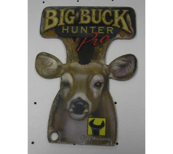 BIG BUCK HUNTER Original Promotional Pinball Machine Key Fob Keychain Plastic - Stern