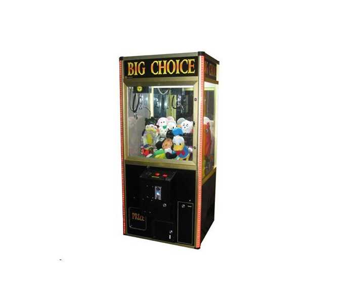 "BIG CHOICE SKILL CRANE Arcade Machine Game for sale - TAKES BILLS & COINS - 38"" WIDE - LATE MODEL"