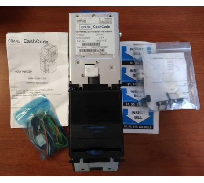 CRANE CURRENZA SMV-4117 Bill Validator Acceptor Mechanism #5065 for sale