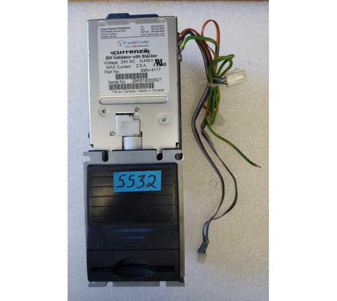 CRANE Cashcode SMV-4117 Bill Validator Acceptor Changer DBA for sale - 24 volt