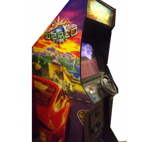 CRUIS'N WORLD Upright Arcade Machine Game for sale by MIDWAY