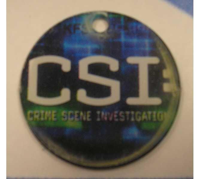 CSI Original Pinball Machine Promotional Key Fob Keychain Plastic - Stern