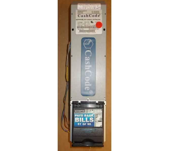 CURRENZA CASHCODE RECYCLER Dollar Bill Validator Acceptor Changer DBA #MB2117U