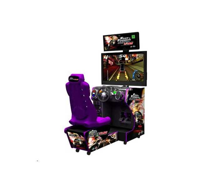 """FAST & FURIOUS: SUPER CARS Arcade Machine Game for sale - 42"""" Flat Screen Monitor by RAW THRILLS"""