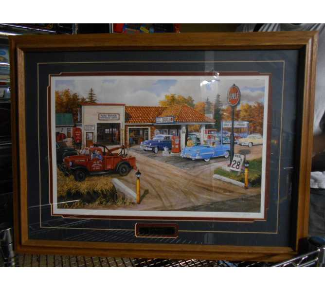 Full Service Limited Edition Art Print by Ken Zylla Framed Matted Numbered 1084 of 9600 Wall Decor