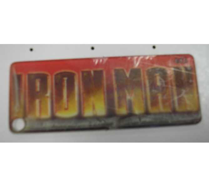 IRON MAN Original Pinball Machine Promotional Key Fob Keychain Plastic - Stern
