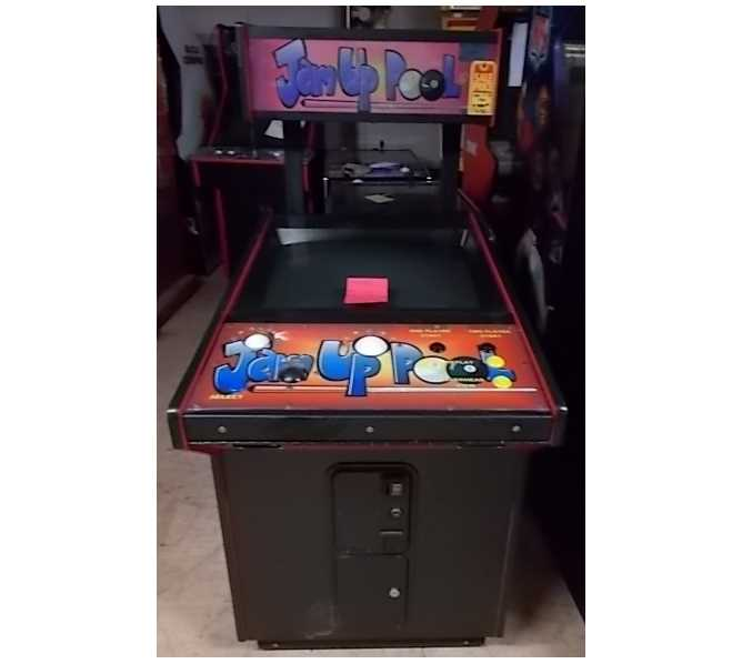 JAM UP POOL Arcade Machine Game for sale - USE REAL POOL CUE