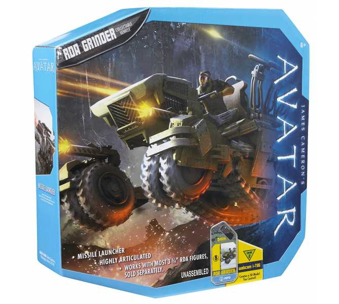 James Cameron's AVATAR RDA GRINDER Collectible Vehicle toy #R2312 for sale
