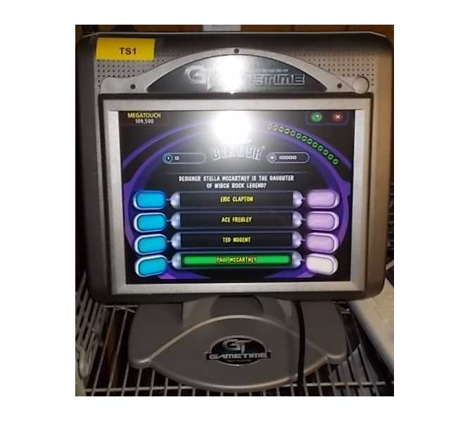 MERIT GAMETIME Touchscreen Arcade Game Machine for sale
