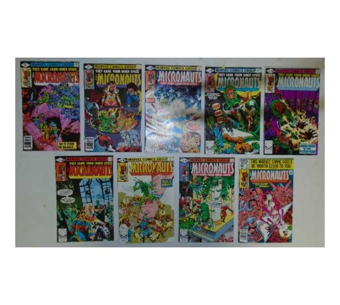 MICRONAUTS COMIC BOOKS LOT - ISSUES #13 through #21 for sale