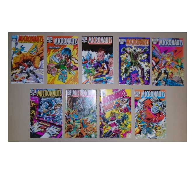 MICRONAUTS COMIC BOOKS LOT - ISSUES #40 through #48 for sale - 1979 1st Series MARVEL COMICS GROUP