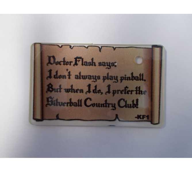MUSTANG Original Pinball Machine Promotional Key Fob Keychain Plastic - Stern