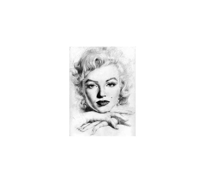 Marilyn Monroe Framed Portrait by Hai Yan 1998 Wall Art for sale