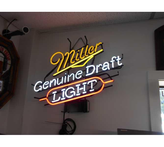 Miller Genuine Draft Light Neon Advertising Promotion Electric Bar Sign For Sale