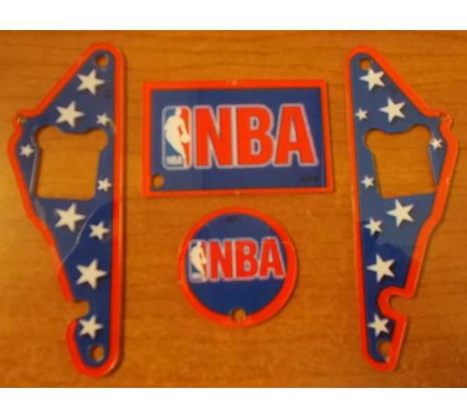 NBA Authentic Pinball Promotional Key Fob Keychain Plastic 4 Piece Set - Stern