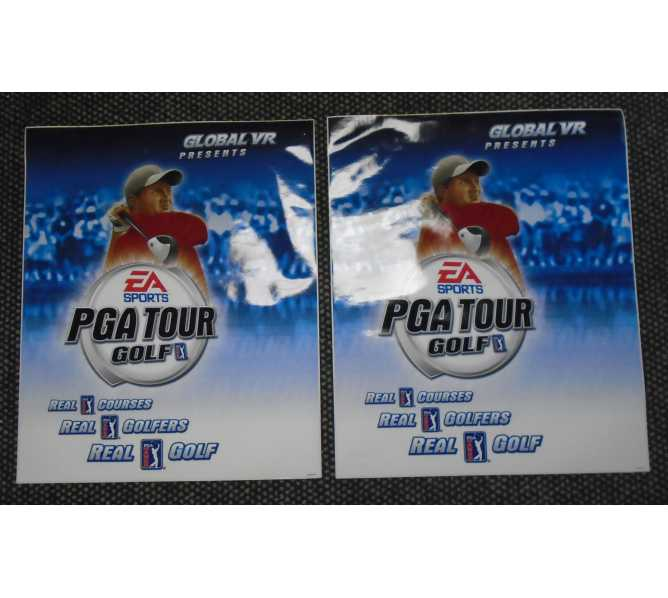PGA Tour Golf Video Arcade Machine Game Cabinet Art Decal Set by Global VR - 2 Piece Set #PGA05CK