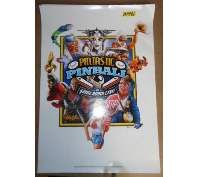 PINTASTIC PINBALL EXPO Game Advertising Promotional Poster #PP01 for sale - LOT of 2