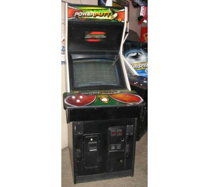 POWERPUTT Upright Arcade Machine Game for sale by IT