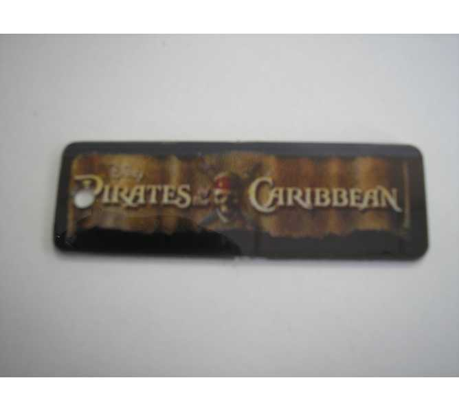Pirates of the Caribbean Original Pinball Machine Promotional Key Fob Keychain Plastic #2 - Stern