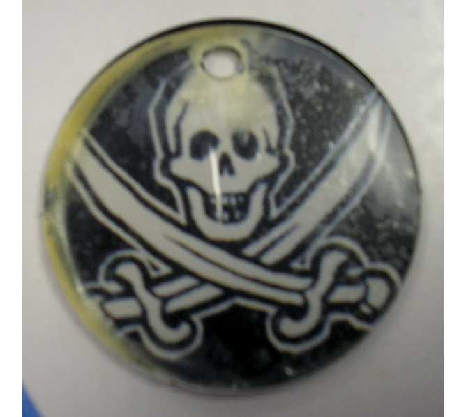 Pirates of the Caribbean Original Pinball Machine Promotional Key Fob Keychain Plastic - Stern