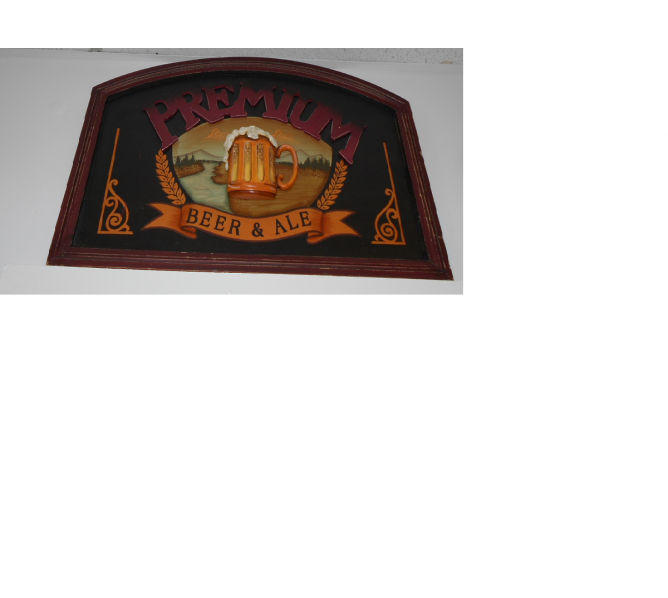 Premium Beer & Ale Bar Pub Sign Wall Decor for sale