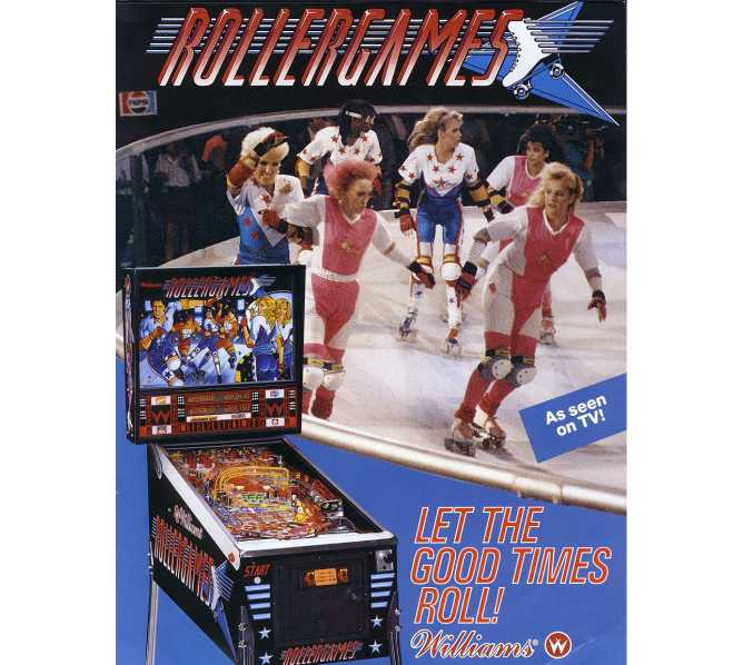 WILLIAMS ROLLERGAMES Pinball Machine Game for sale