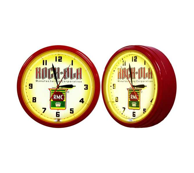 Rock-Ola Neon Clock - Nostalgic - for sale - Sweeping second hand