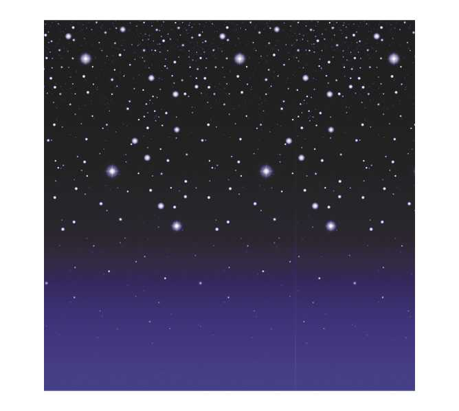 "Room Roll SCENE SETTERS ""STARRY NIGHT"" - DECORATES AN ENTIRE ROOM - 50 FEET LONG - INDOOR or OUTDOOR USE!"