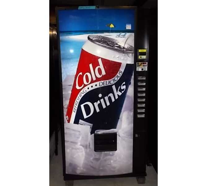 Royal 376 RVCDE and 552 RVCDE 8 SELECTION Can SODA COLD DRINK Vending Machine for sale