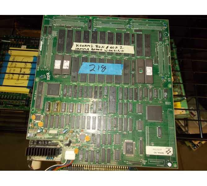 "RUN and GUN 2 Arcade Machine Game PCB Printed Circuit Jamma Board #218 by KONAMI - ""AS IS"" - FREE SHIPPING"