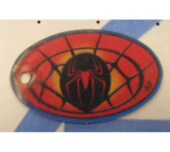 SPIDER MAN Original Pinball Machine Promotional Key Fob Keychain Plastic - Stern