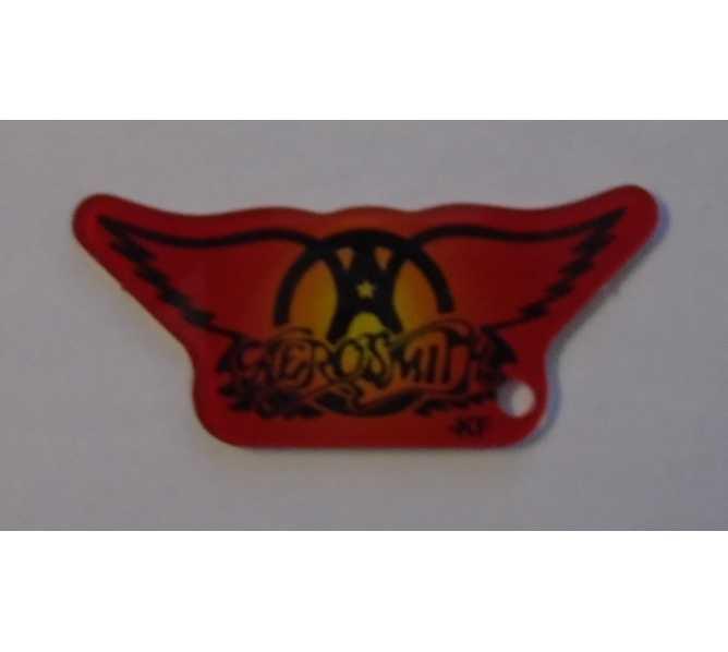 STERN AEROSMITH Original Pinball Machine Promotional Key Fob Keychain Plastic