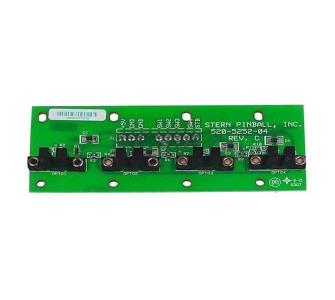 STERN Pinball Machine Game 4 BANK OPTO Board #520-5252-04