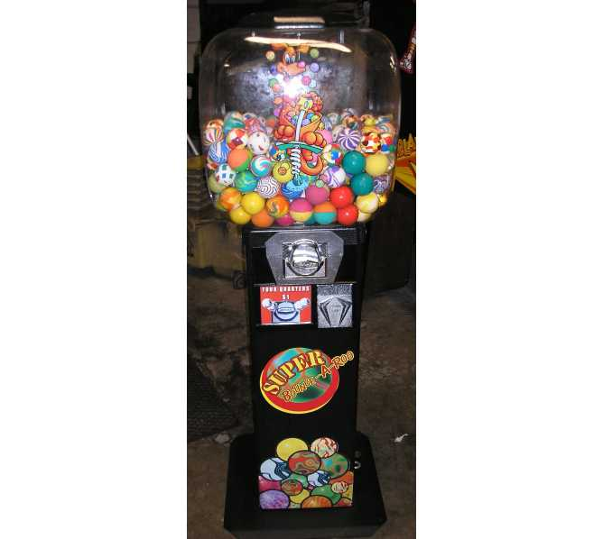 SUPER BOUNCE-A-ROO Merchandiser Arcade Machine Game for sale by OK MANUFACTURING - SUPERBALLS/CAPSULES