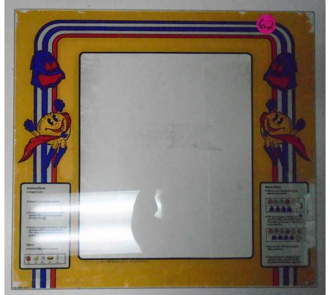 Super Pac Man Arcade Machine Game Glass Marquee Bezel