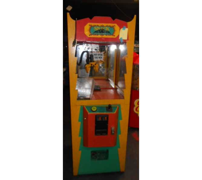 Snack Attacker Candy Crane Redemption Arcade Machine Game for sale by AGE