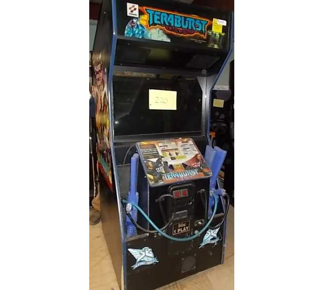 TERABURST Arcade Machine Game by KONAMI for sale - 2 H2H SHOOTING GAMES IN 1 - ALIEN CHARACTERS