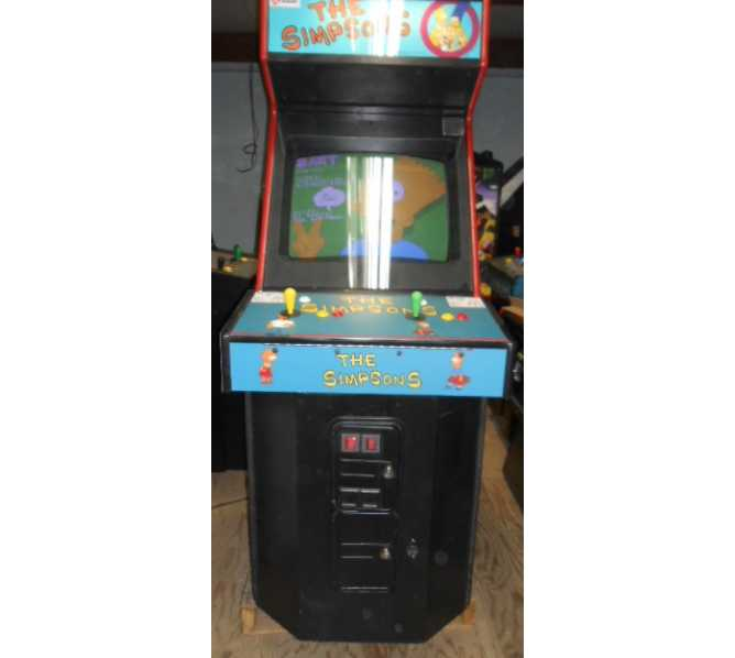 THE SIMPSONS Upright Video Arcade Machine Game for sale by Konami - HOMER, BART, MARGE
