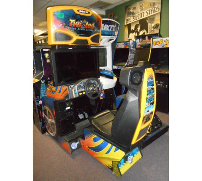 TWISTED-NITRO STUNT RACING Sit-Down Arcade Machine Game for sale by GLOBAL VR