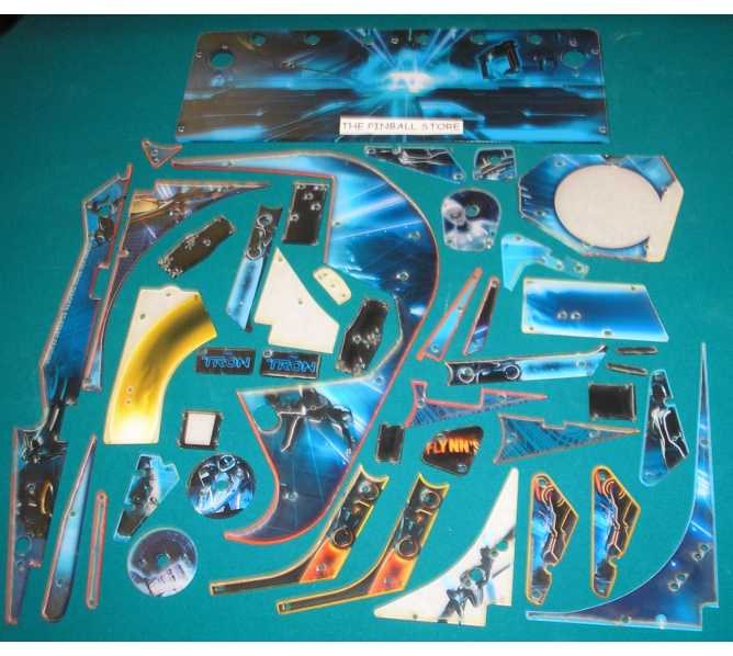 TRON Pinball Machine Game Complete Plastic Set by Stern #803-5000-B9 - New