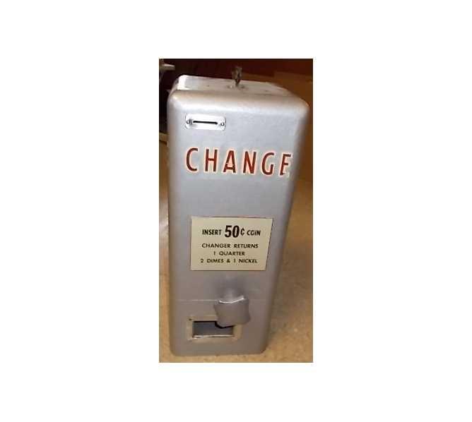 VINTAGE CHANGE Machine - Changes $.50 into 1 Quarter, 2 Dimes, 1 Nickel