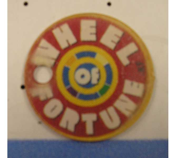 WHEEL OF FORTUNE Original Pinball Machine Promotional Key Fob Keychain Plastic #1 - Stern