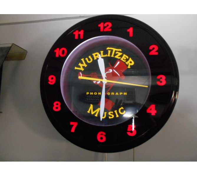 Wurlitzer Johnny One Note Neon Clock - Official Licensed Product for sale - Sweeping Second Hand