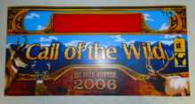 BIG BUCK HUNTER 2006 CALL OF THE WILD Arcade Machine Game FLEXIBLE Overhead Marquee Header #719 for sale