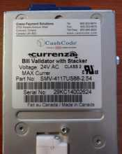 Crane Cashcode SMV-4117US88-2.54 Dollar Bill Validator Acceptor Changer DBA - $1's through $20's for sale